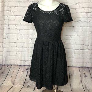 Calvin Klein Black Lace Dress Party Cocktail sz 6